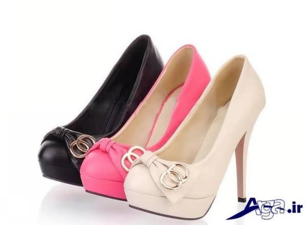 کفش پاشنه بلند زنانه پاپیون دار