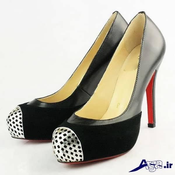 کفش پاشنه بلند زنانه ورنی