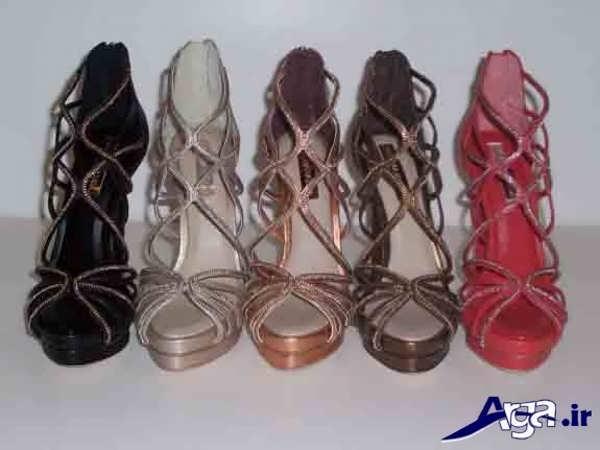 کفش پاشنه بلند زنانه بندی