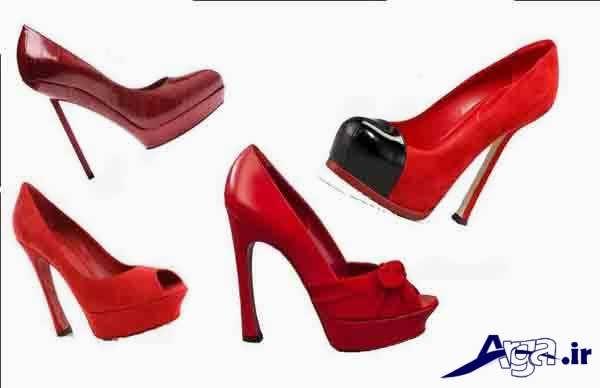 کفش پاشنه بلند زنانه جدید قرمز