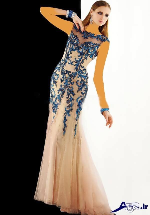 مدل لباس شب بلند مدرن