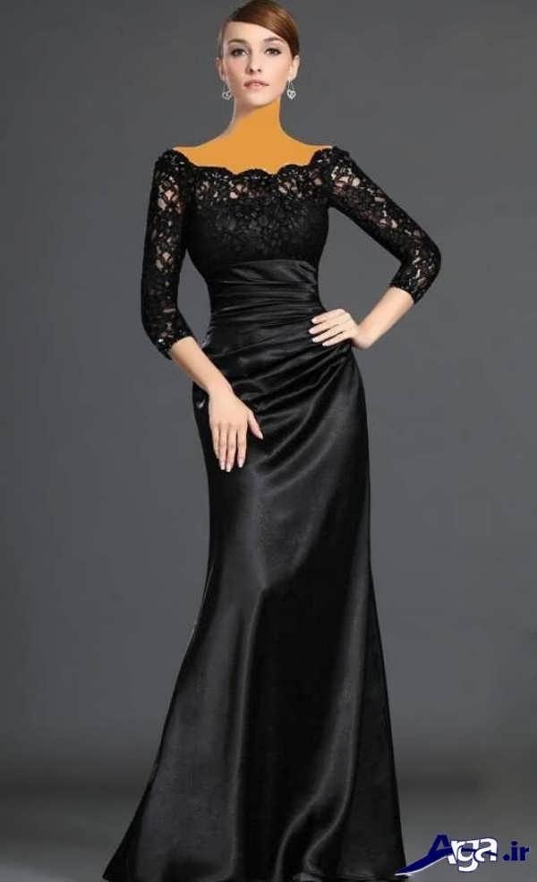 مدل لباس شب بلند ساتن
