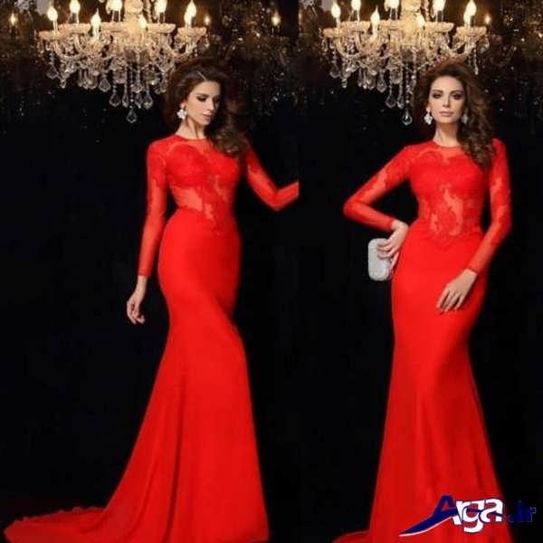 لباس شب های قرمز بلند