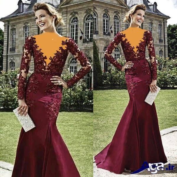مدل لباس شب بلند جیگری