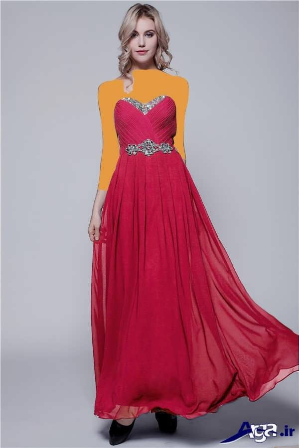 مدل لباس شب بلند حریر