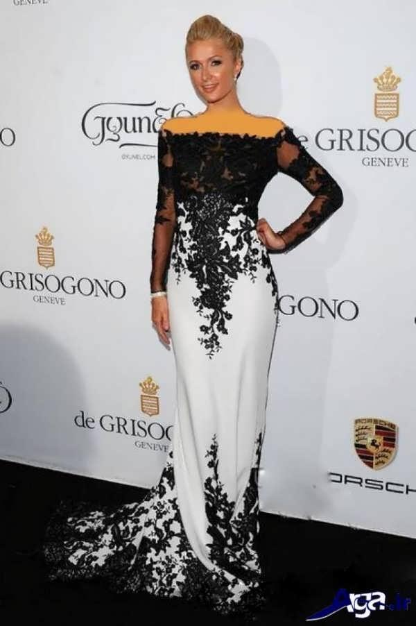 مدل لباس شب بلند سفید