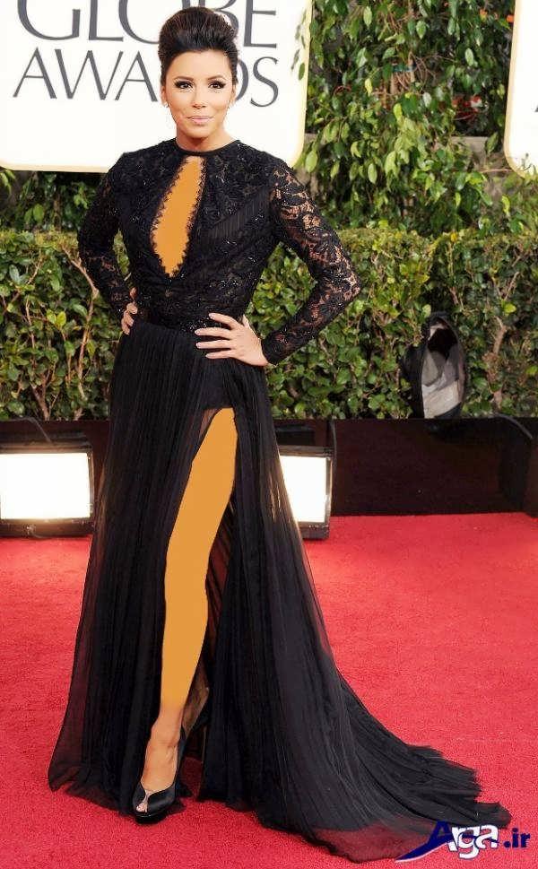 مدل لباس شب بلند مشکی