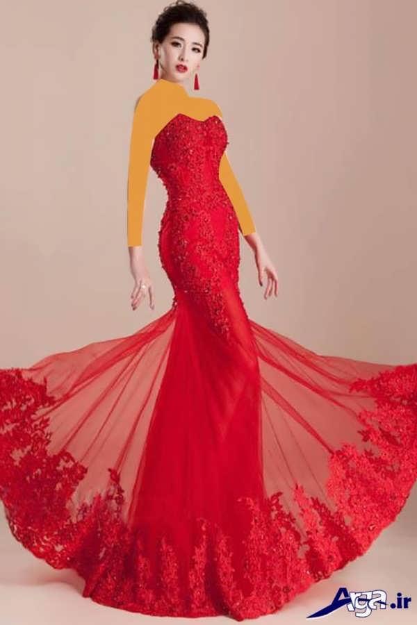 مدل لباس شب بلند فوق العاده زیبا