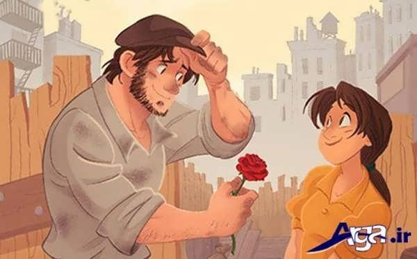 عکس کارتونی عاشقانه برای پروفایل