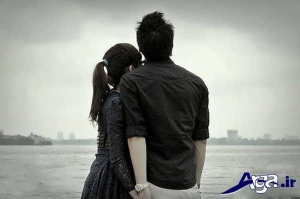عکس عاشقانه زیبا لب ساحل