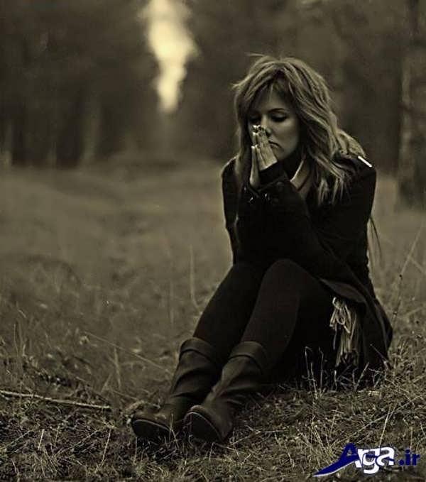 عکس عاشقانه غمگین دختر تنها