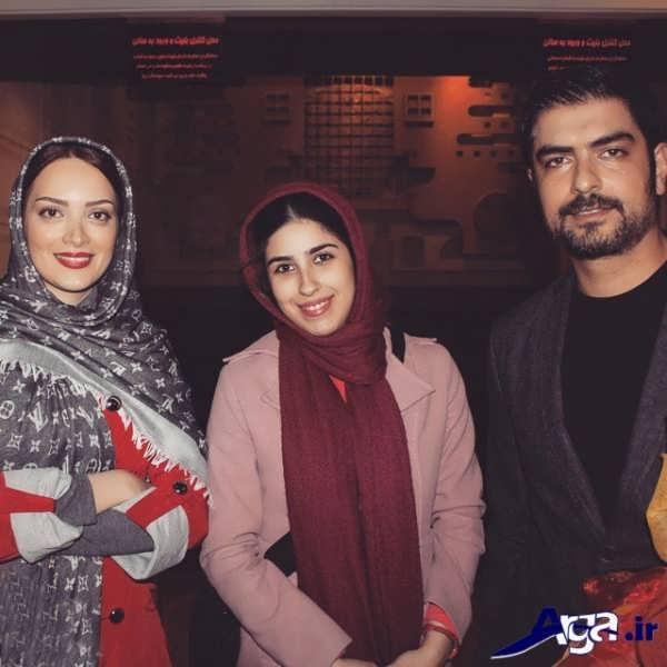 مهدی پاکدل و همسرش