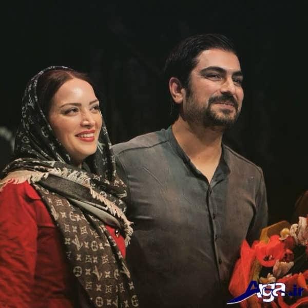 عکس مهدی پاکدل در کنار همسرش