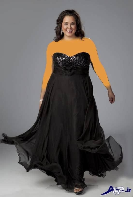 لباس شب برای خانم های درشت اندام