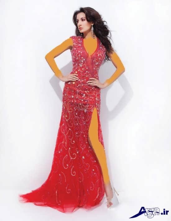مدل لباس شب 2016 قرمز