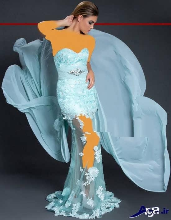 مدل لباس شب شیک و مدرن با طراحی منحصر به فرد