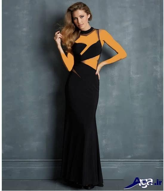 مدل لباس شب مشکی زنانه و دخترانه