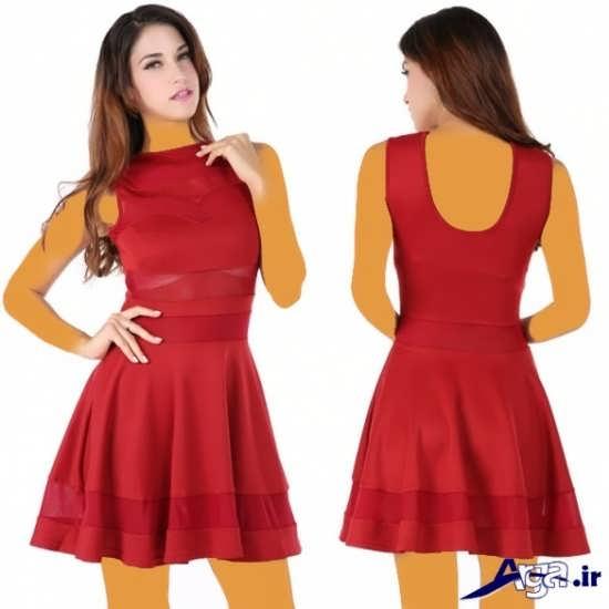 مدل لباس شب قرمز کوتاه
