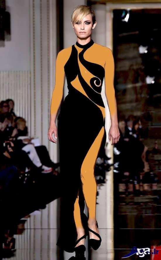 مدل لباس شب زیبا مشکی مخمل