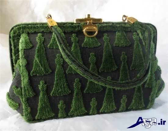 کیف مجلسی زنانه طرح دار