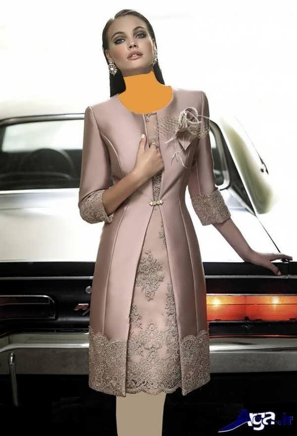 مدل مانتو کارشده با گیپور