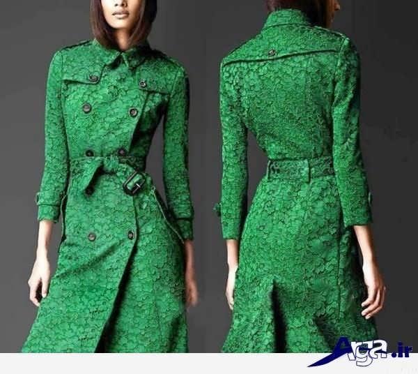 مدل مانتو گیپور مجلسی سبز