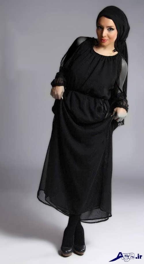 مدل مانتو بارداری با رنگ تیره