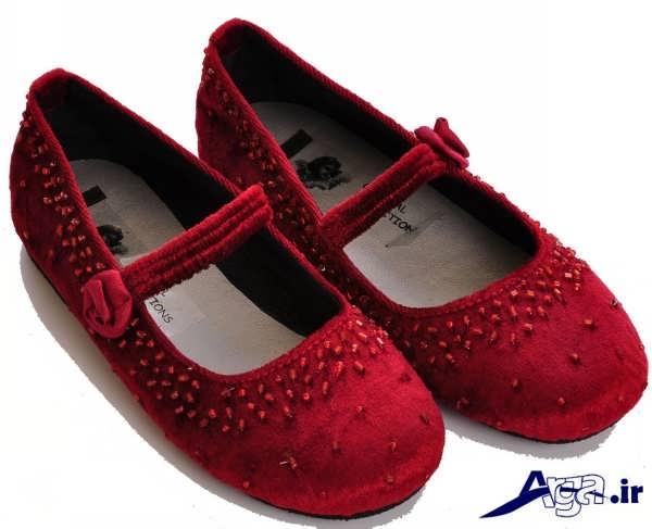 کفش بچه گانه دخترانه قرمز زیبا