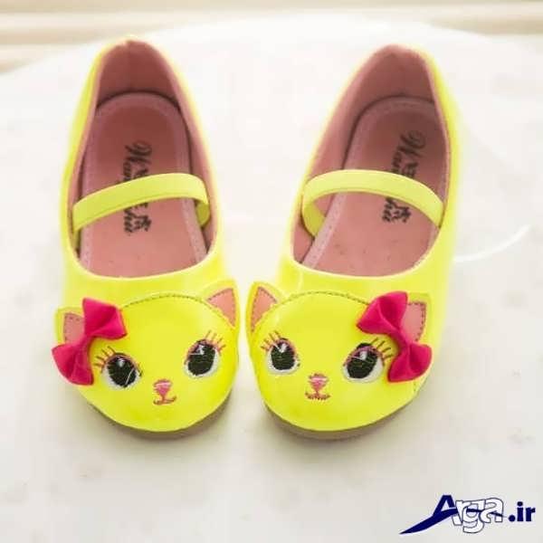 کفش بچه گانه دخترانه جدید با طرح های فانتزی... کفش بچه گانه دخترانه زرد مدل ...
