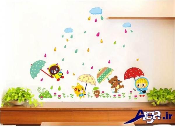 استیکر باران برای اتاق کودک
