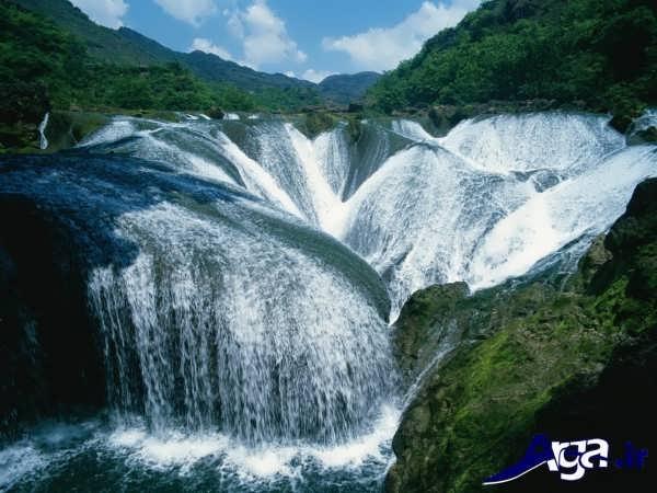 عکس آبشار در چین