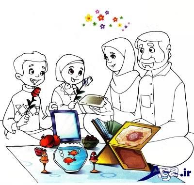 شعر کودکانه عید با مامان و بابا