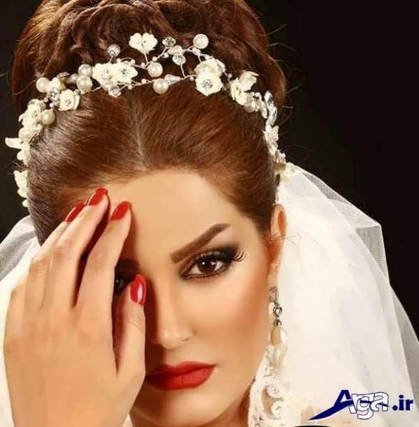 شینیون موی فرحی عروس زیبا