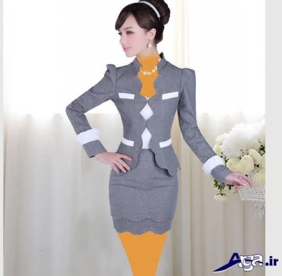 انواع مدل های متنوع کت و دامن مخصوص دختران ایرانی