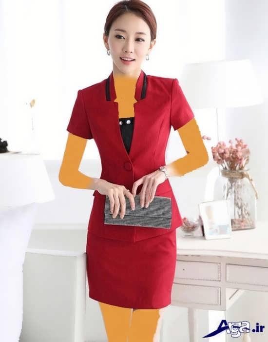 مدل کت و دامن آستین کوتاه کره ای