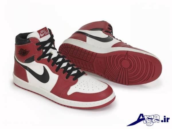 مدل کفش اسپرت دخترانه سفید قرمز