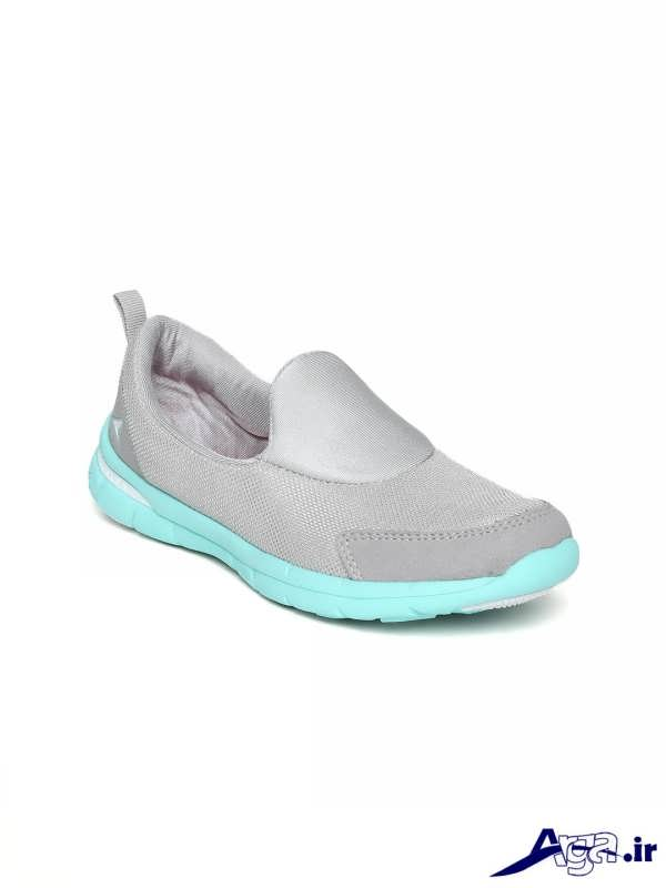 مدل کفش اسپرت دخترانه طوسی