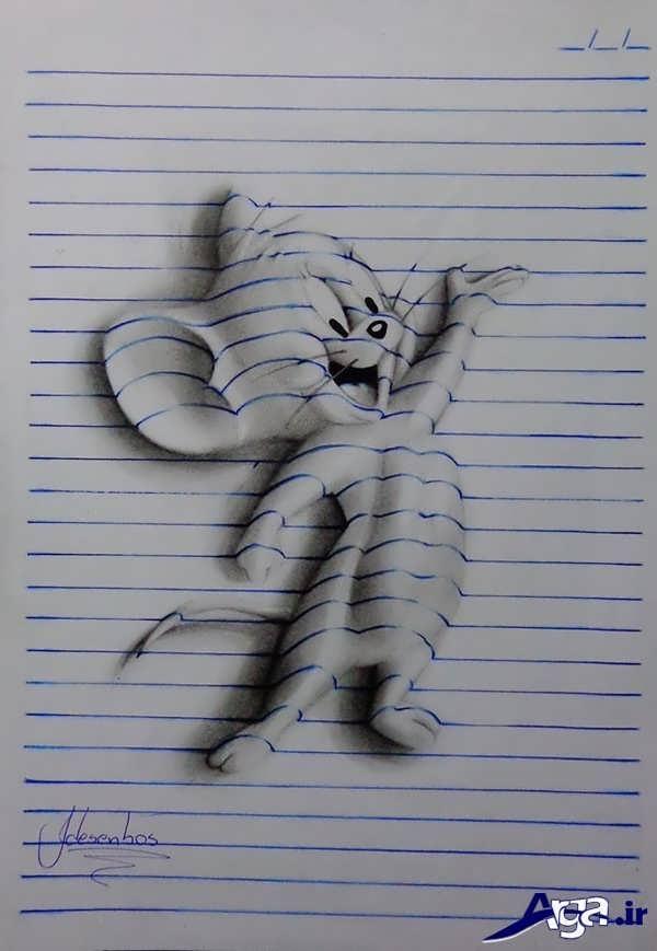 نقاشی های سه بعدی تام