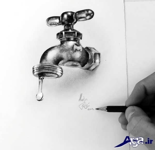 نقاشی های سه بعدی آب
