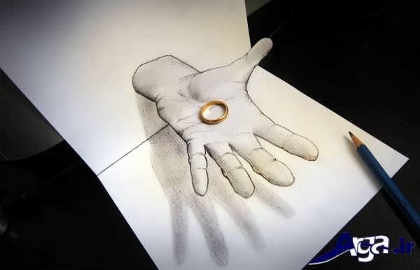 نقاشی های سه بعدی دست