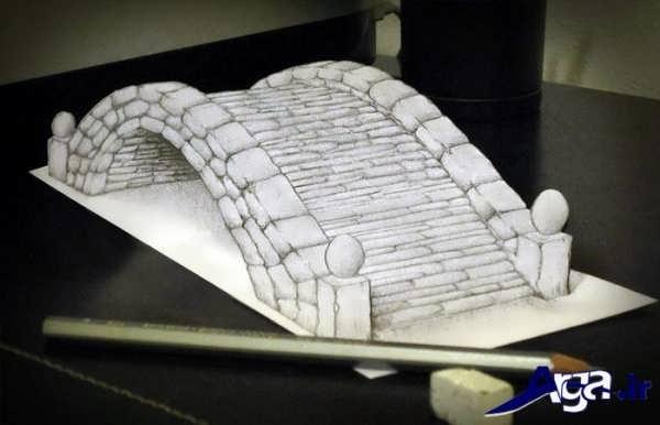 نقاشی های سه بعدی پل