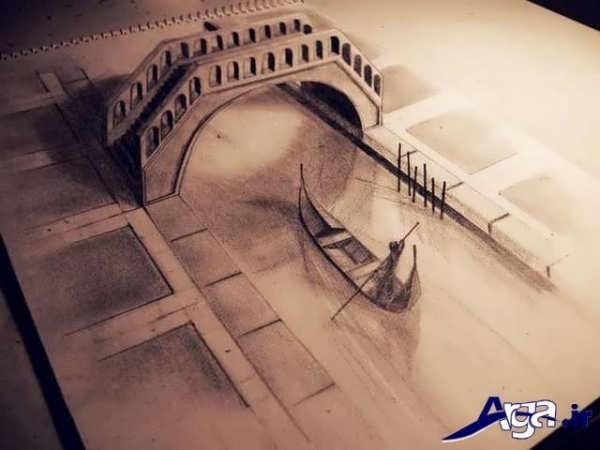 نقاشی سه یعدی پل