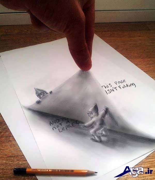 نقاشی سه بعدی کتاب داستان
