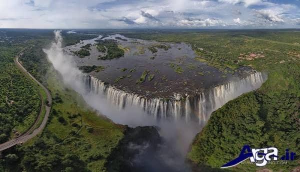 عکس آبشار بلند ویکتوریا