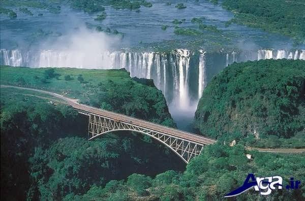 عکس آبشار عجیب ویکتوریا