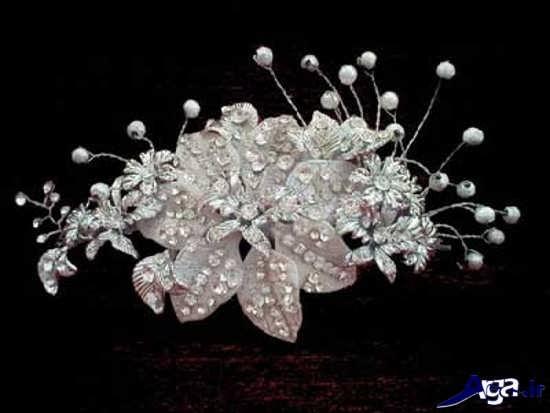 مدل تاج عروس با گل زیبا