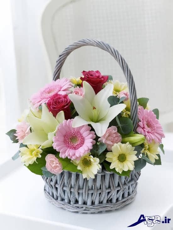 عکس سبد گل سفید