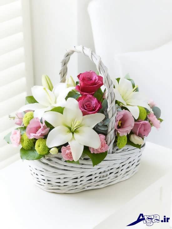 عکس سبد گل زیبا