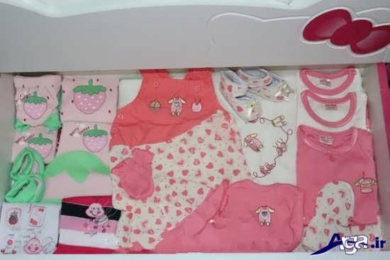 تزیین لباس های نوزاد در سیسمونی
