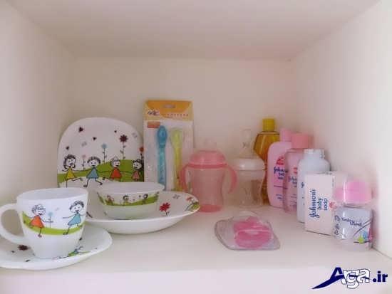 تزیین ظروف غذا خوری نوزاد